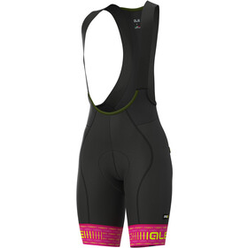 Alé Cycling Graphics PRR Green Road Bib Shorts Women cyclamen/fluo yellow